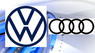 Volkswagen and Audi logos