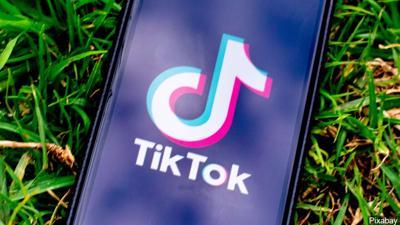 TikTok app on a phone