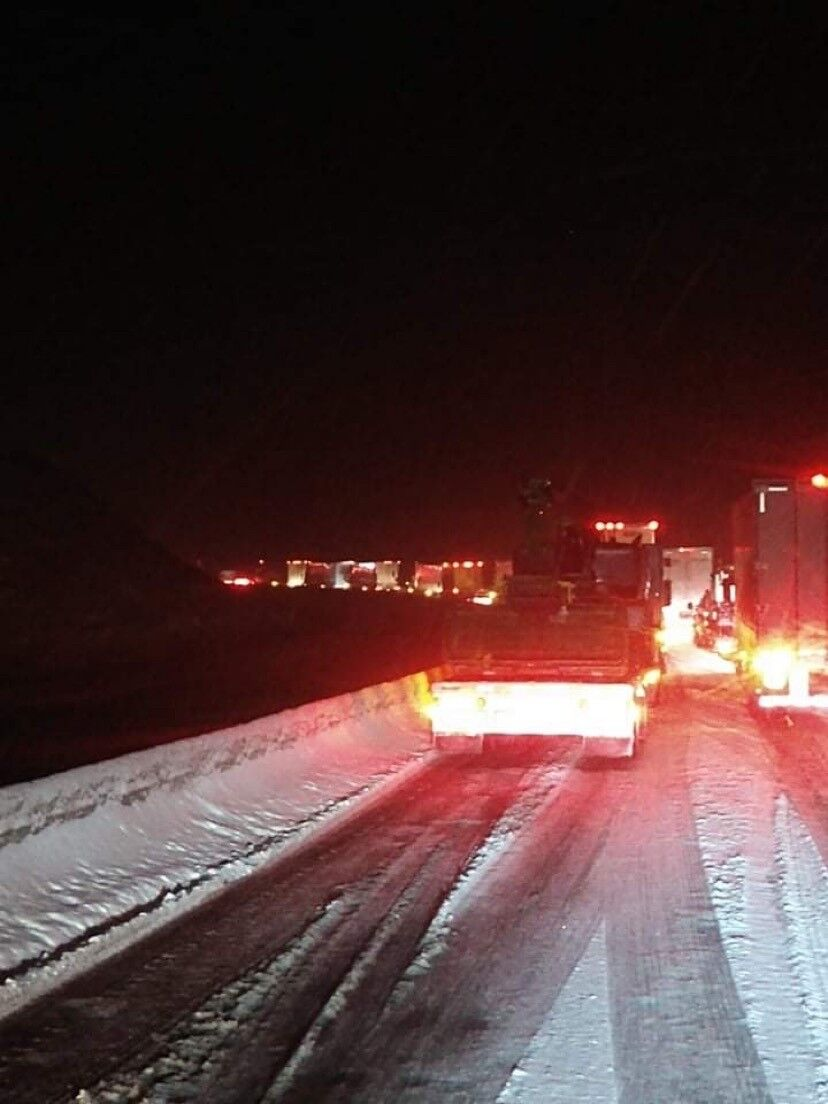 Scattered snow, ice causing long delays on Bozeman Pass