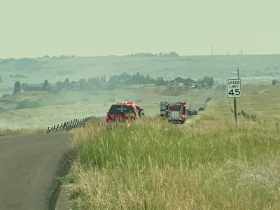 Fire Rescue responding to grass fire