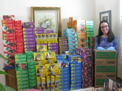 Bozeman Girl Scout donates over 100 boxes of cookies to active-duty troops in Qatar
