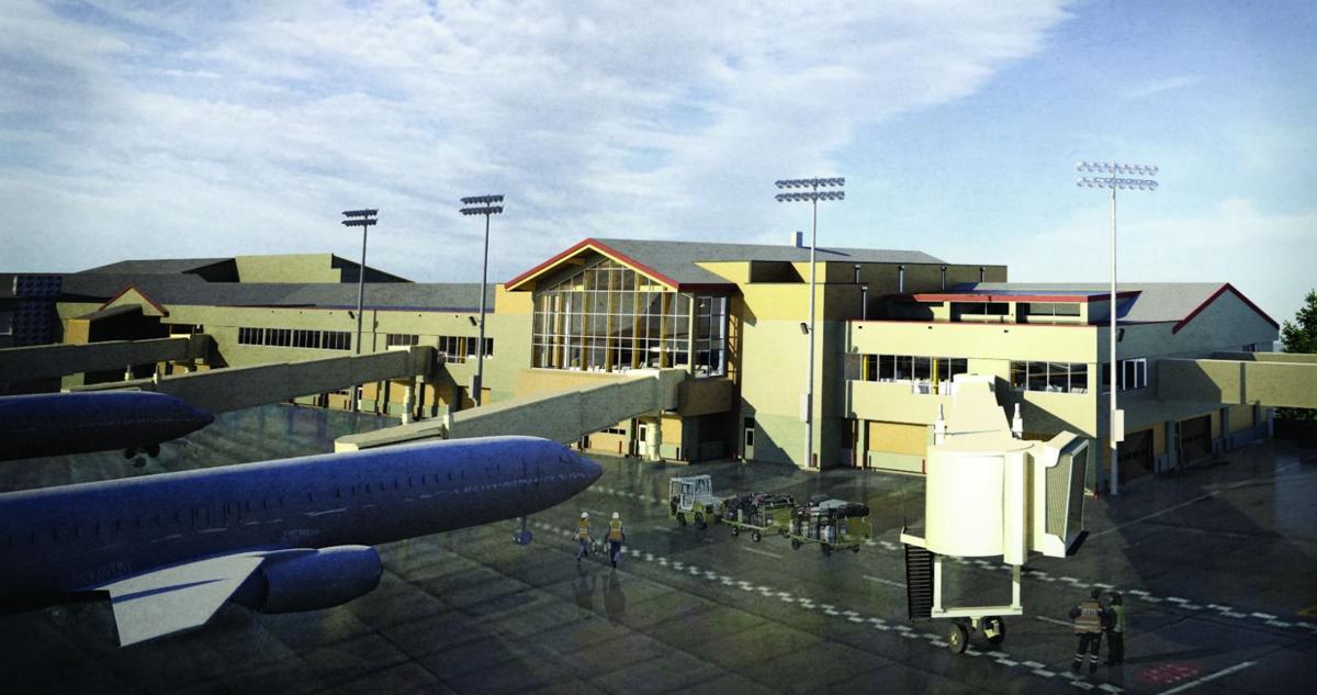 Bozeman Yellowstone International Airport 2019 terminal expansion interior