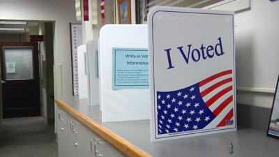 """I voted"" poll boxes"