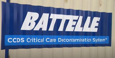 Battelle Decontamination system helping to sterilize face masks