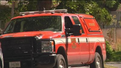 Missoula Fire Department fights Beckwith house fire