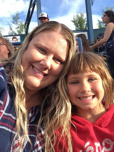 Single-mother Julie Phillips, alongside her daughter Sunny
