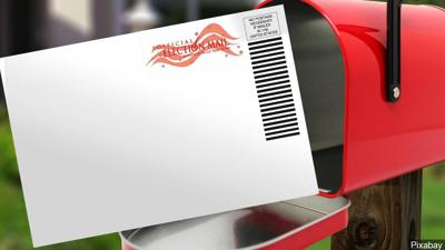 Vote by mail stock image