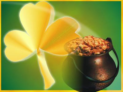 Pot of gold, Saint Patrick's Day