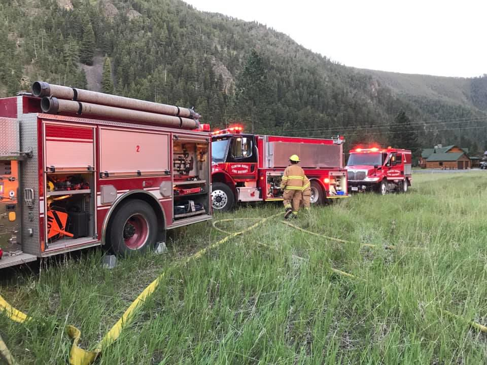 Clinton Rural Fire District knocks down fire east of Missoula