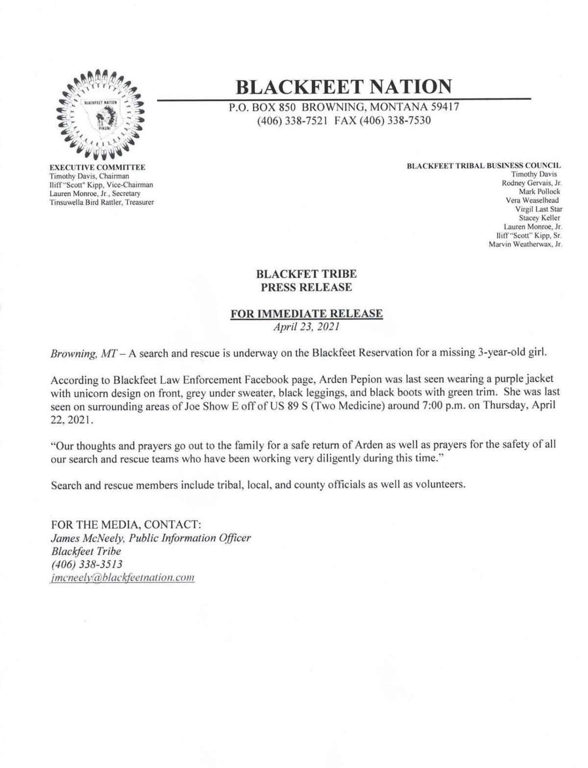 Blackfeet Covid-19 Incident Command
