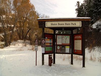 Sluice Boxes State Park Winter