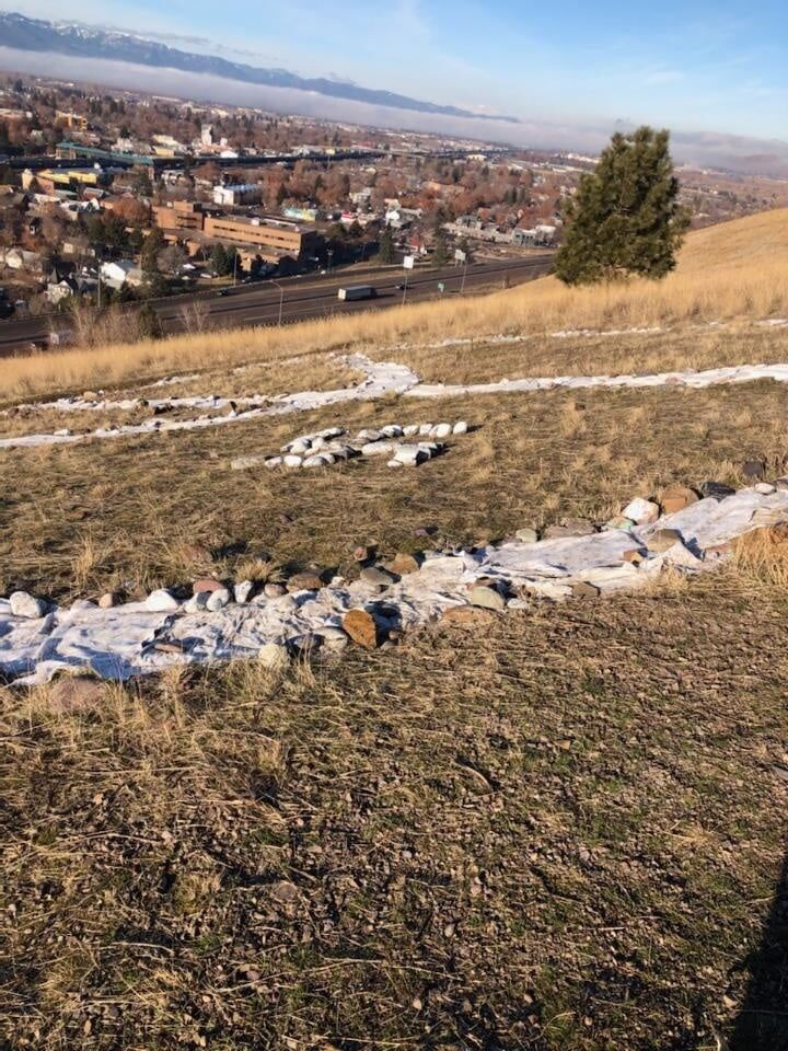 Info sought on person responsible for swastika on Waterworks Hill