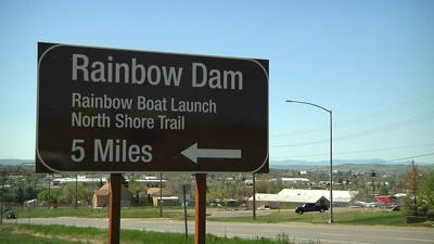Rainbow Dam Sign