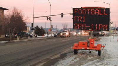 Montana State University football road closure Kagy