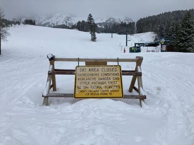 Bridger Bowl Ski Area sign