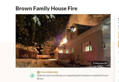 GoFundMe set up for Darby family who lost their home to a fire