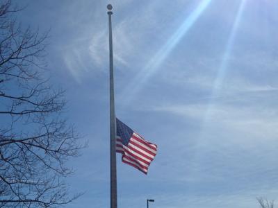 US flag at half staff - WikiMedia