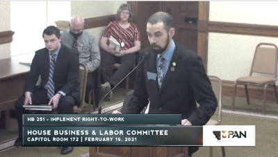 House Business and Labor hears testimony on right-to-work bill