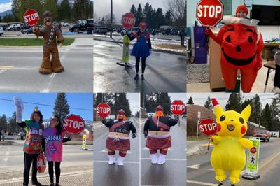Florence crossing guard cheers up students with costumes