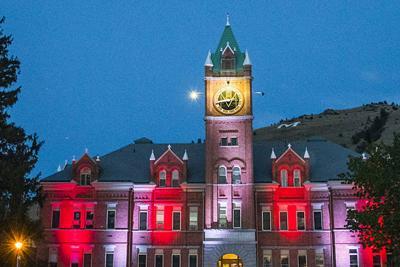 UM to light main hall and the M to honor area high school graduates