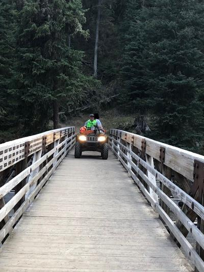 Hiker impales foot while hiking to Ousel Falls