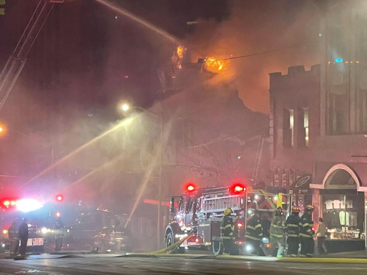 Historic M&M bar in Butte on fire