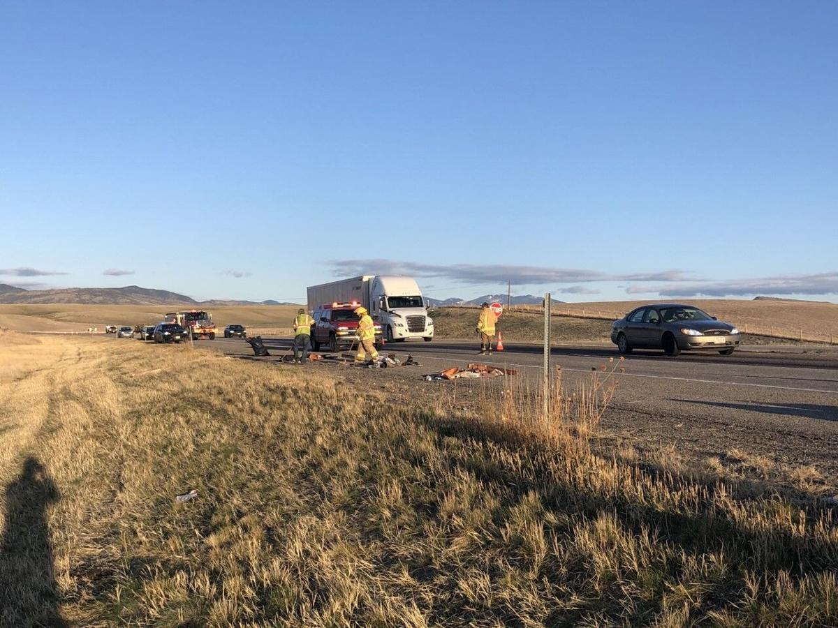 Semi rear-ends pickup on I-90 near Three Forks
