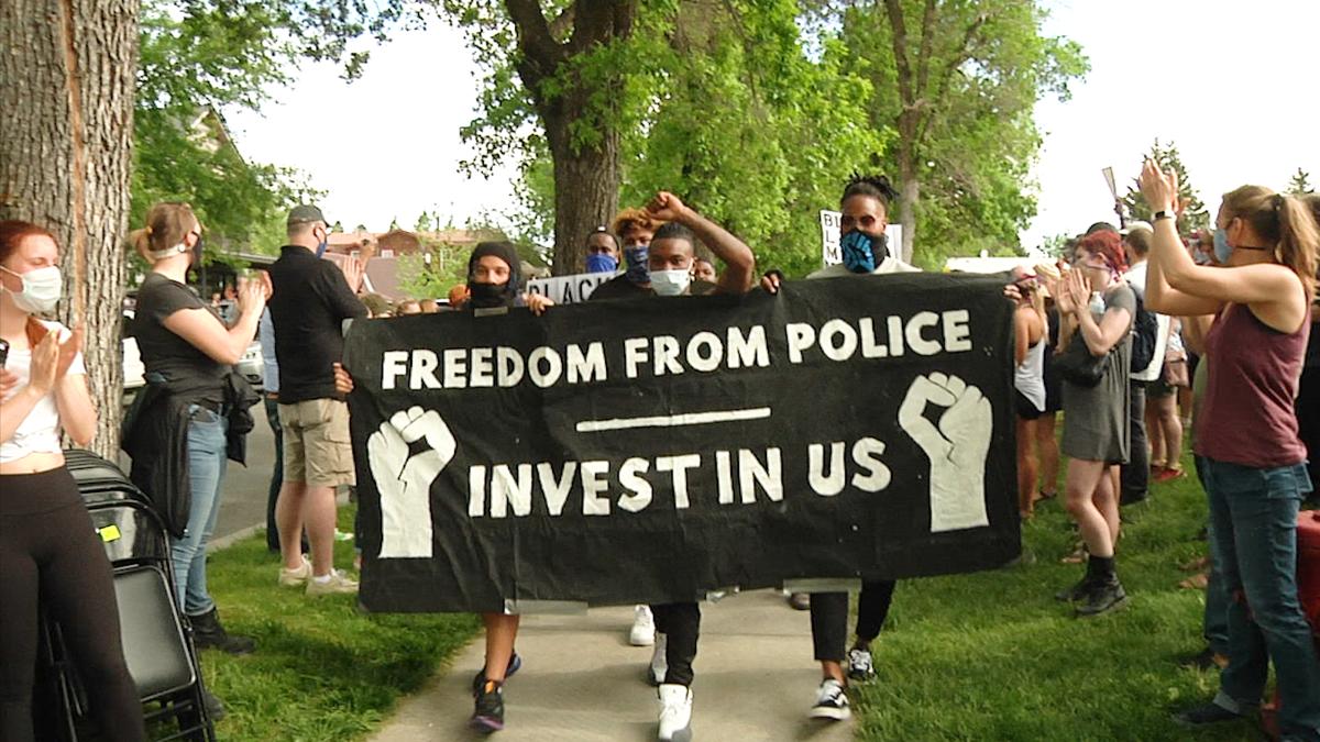 Black Lives Matter rally sign