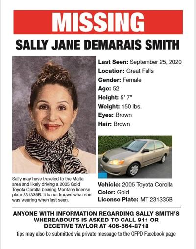 Sally Smith Missing Poster