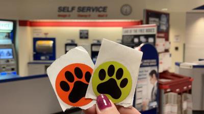 USPS Dog Paw Stickers