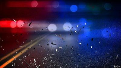 police lights road crash
