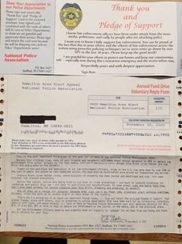 Ravalli County Scam Letter