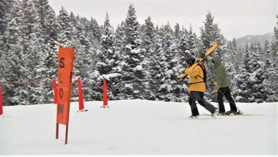 Bridger Bowl skiers