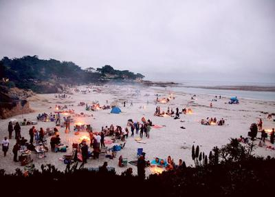 Carmel Beach Had More Than 130 Fires Burning July 4 2017