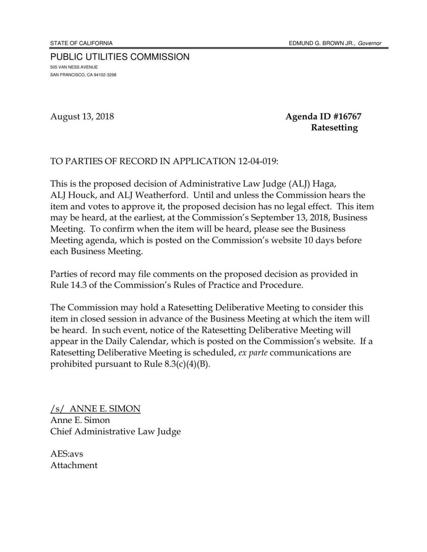 CPUC proposed decision
