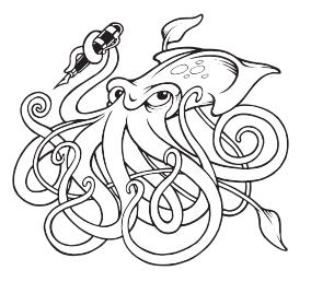 Squid - Black and White