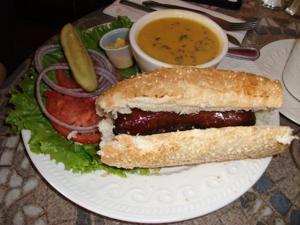 English Ales Banger Sandwich