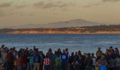 Over 100 people gather in Monterey on Thursday to honor the 34 killed in a dive boat fire.