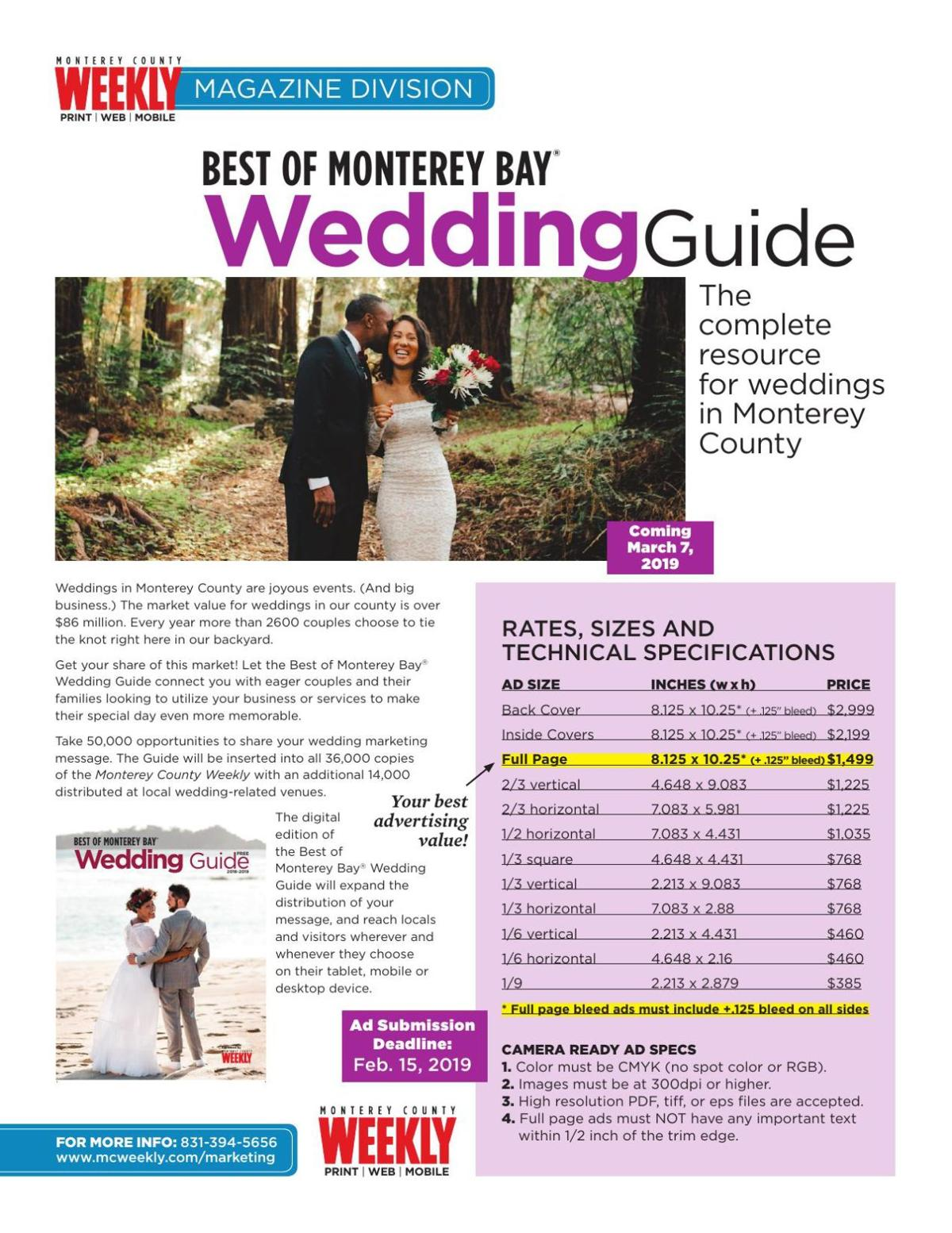 MCW Wedding Guide Rates 2019