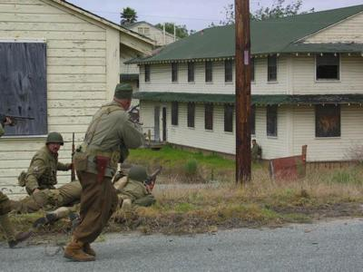 A WWII enactment channels the confusion of war on Fort Ord.
