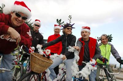 Christmas Eve bike ride is all about silly fun.