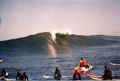 Mavericks 2005 has become an event at sea.
