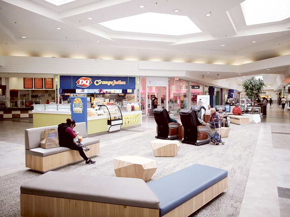Charmant Northridge Mallu0027s Renovations Include New Cushioned Seats, Modular Furniture  And Well Lit Seating Areas.
