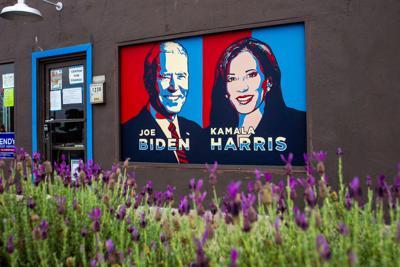 Biden and Harris mural