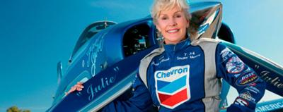 Julie Clark overcame suffocating sexism to star at events like this weekend's California International Airshow.