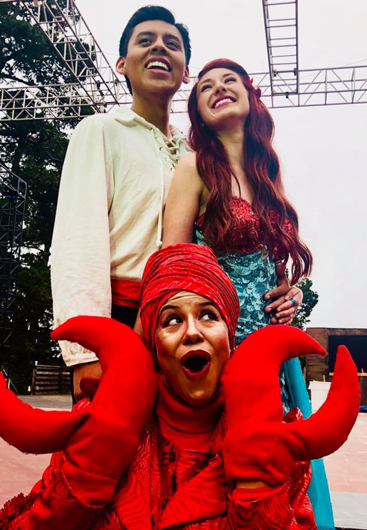 Little Mermaid with Prince and Krab