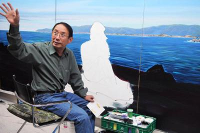 Dong Sun Kim's murals quietly capture the beauty of his adopted country.