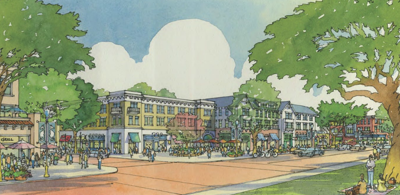 Campus Town drawing