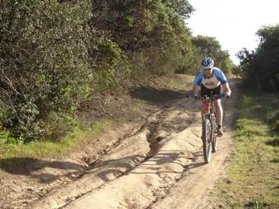 The Sea Otter mountain bike course is fun, as long as you're not in any hurry.