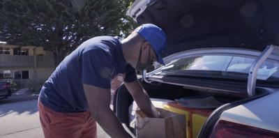 Video still of Meals on Wheels volunteer Jamal Campbell courtesy of Meals on Wheels Monterey Peninsula Inc.